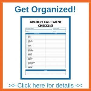 Archery Equipment Checklist